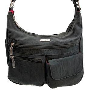 Baggallini Gray Nylon Travel Handbag & Coin Purse